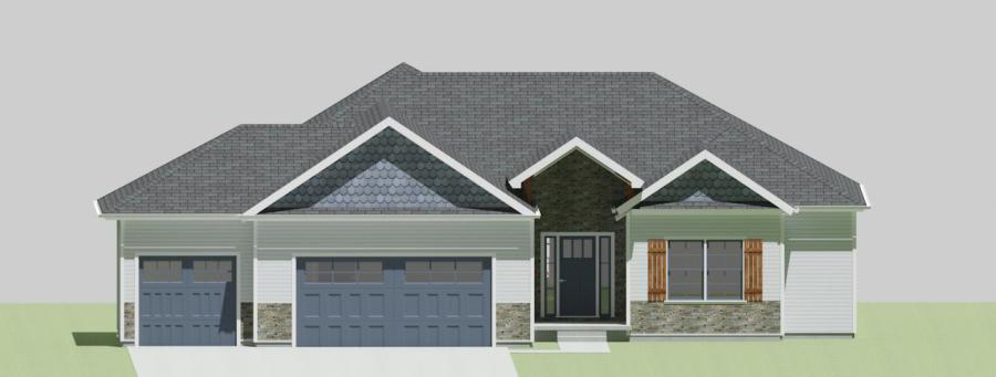 PCDI Homes Custom Spec Home Builders in NE Kansas Marco – Reverse Ranch Floor Plans